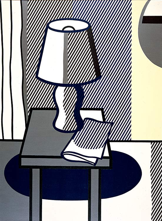 'натюрморт с `table` лампа (1976)' по Roy Lichtenstein (1923-1997, United States)