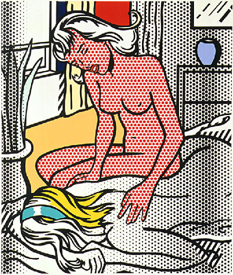 'Два Nudes (1994)', масло по Roy Lichtenstein (1923-1997, United States)