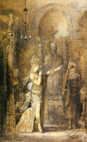'Саломе Танцы', масло по Gustave Moreau (1826-1898, France)