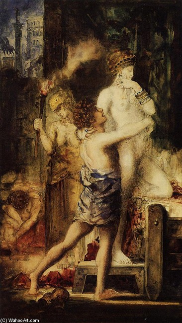 'Мессалина', масло по Gustave Moreau (1826-1898, France)