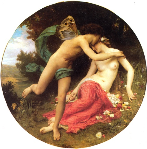 Амур и Психея, Масло по William Adolphe Bouguereau (1825-1905, France)