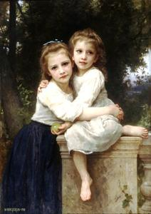 William Adolphe Bouguereau - Две сестры