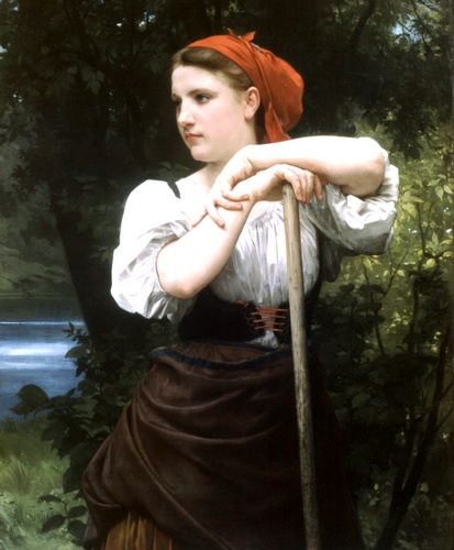 Faneuse, масло по William Adolphe Bouguereau (1825-1905, France)