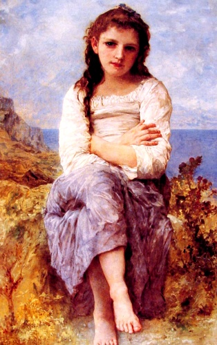 Far Niente, масло по William Adolphe Bouguereau (1825-1905, France)