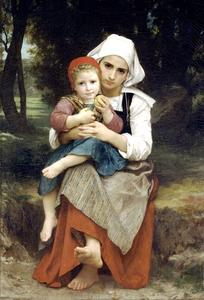 William Adolphe Bouguereau - Бретон Брат и сестра