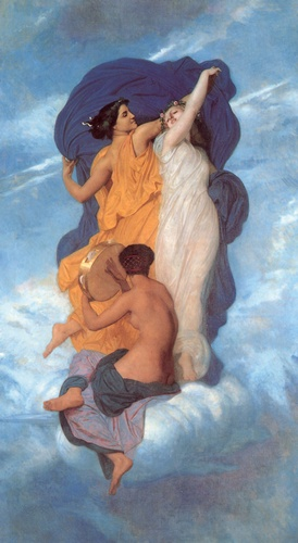 Танец, масло по William Adolphe Bouguereau (1825-1905, France)