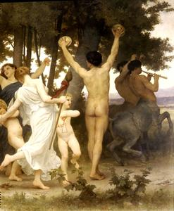 William Adolphe Bouguereau - Молодежь Бахуса право дт