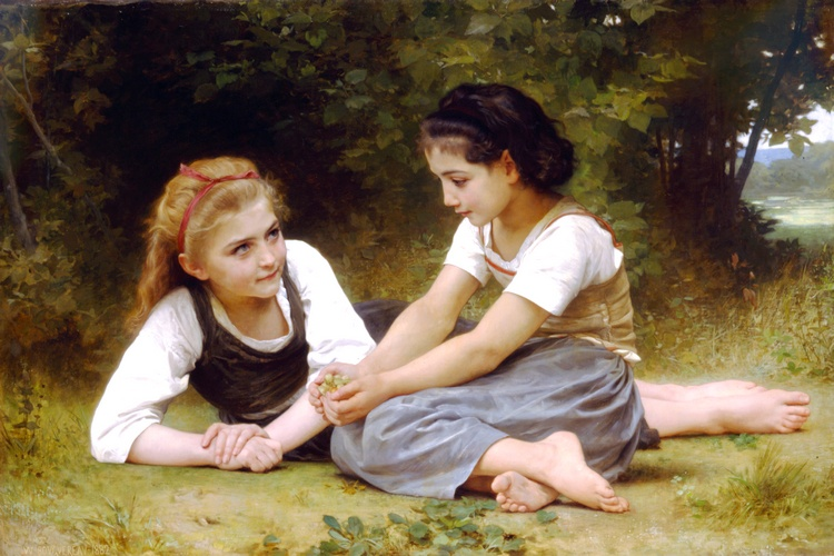 Фундук по William Adolphe Bouguereau (1825-1905, France) | Репродукции Произведений Искусства William Adolphe Bouguereau | WahooArt.com