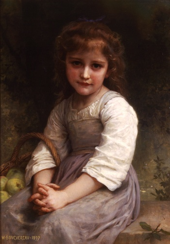Яблоки, масло по William Adolphe Bouguereau (1825-1905, France)