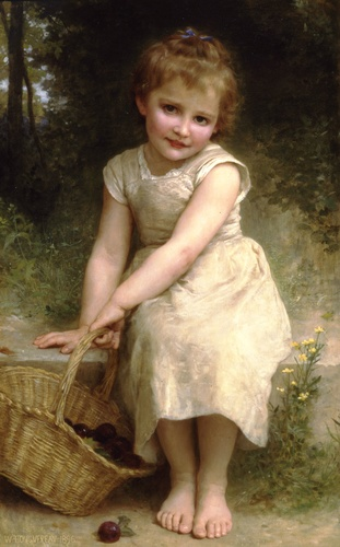 Сливы, масло по William Adolphe Bouguereau (1825-1905, France)