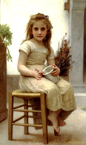 Вкус, масло по William Adolphe Bouguereau (1825-1905, France)