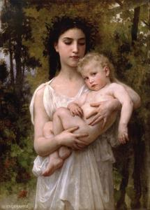 William Adolphe Bouguereau - Младший брат 1900