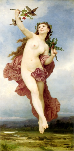 День, масло по William Adolphe Bouguereau (1825-1905, France)