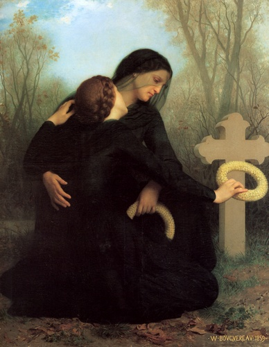 День мертвых по William Adolphe Bouguereau (1825-1905, France) | WahooArt.com