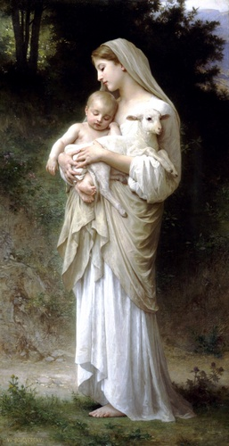 Linnocence, масло по William Adolphe Bouguereau (1825-1905, France)