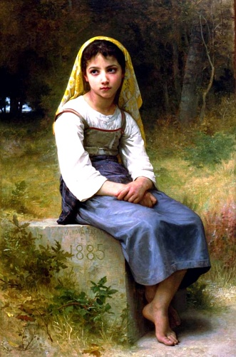 NB Медитация 1885 по William Adolphe Bouguereau (1825-1905, France) | Репродукции Музея | WahooArt.com