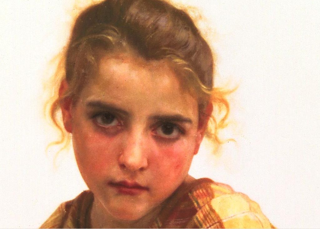 Разбитая деталь Кувшин, масло по William Adolphe Bouguereau (1825-1905, France)