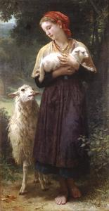 William Adolphe Bouguereau - Пастушка 1873 165.1x87.6cm