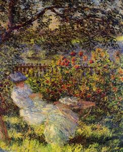 Claude Monet - Alice Hoschede в саду