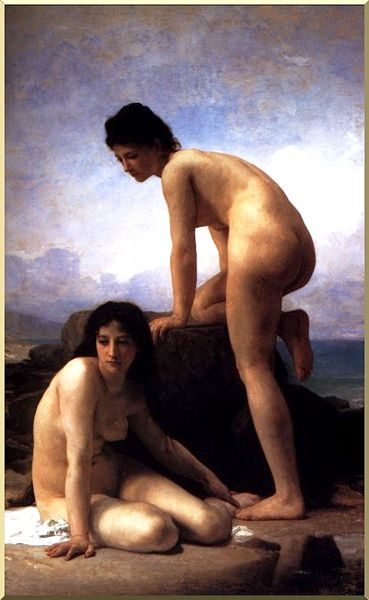 Купальщицы по William Adolphe Bouguereau (1825-1905, France) | Картина Копия | WahooArt.com