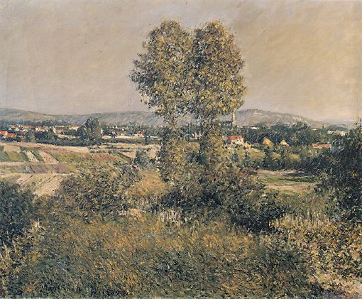 ландшафта Аржантее , холст, масло по Gustave Caillebotte (1848-1894, France)