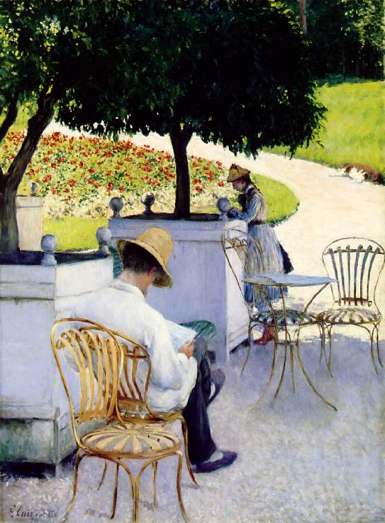 ле Orangers по Gustave Caillebotte (1848-1894, France)