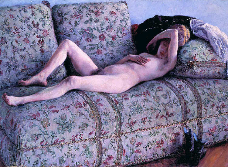 Nud coucs по Gustave Caillebotte (1848-1894, France)