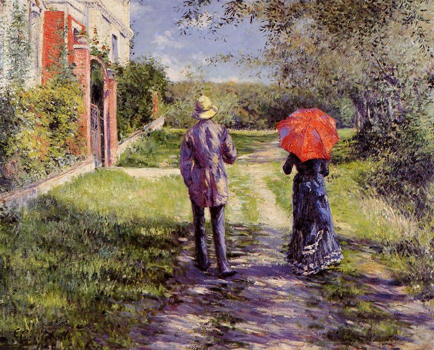 Рост Дорога, холст, масло по Gustave Caillebotte (1848-1894, France)