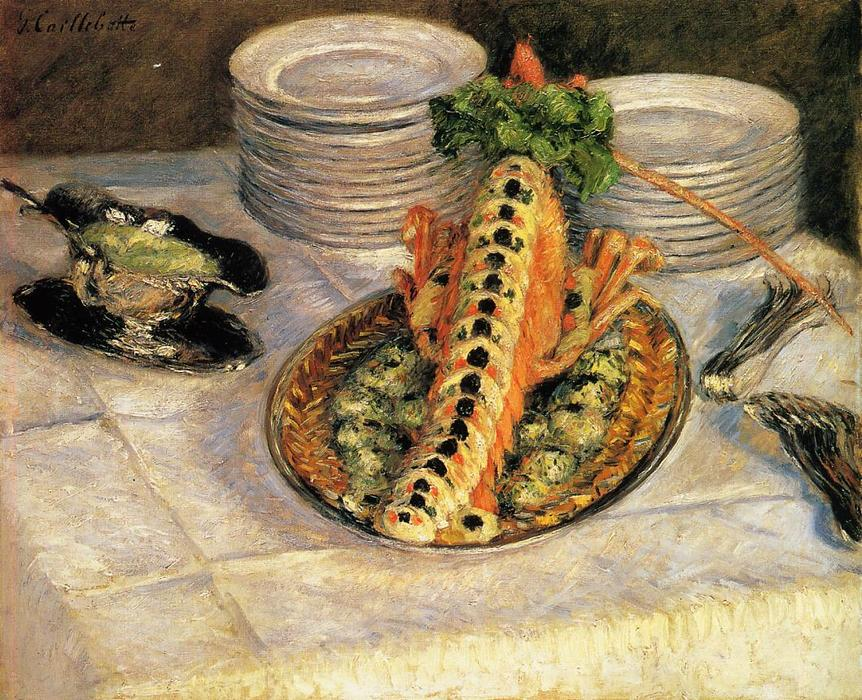 Натюрморт с раками, 1882 по Gustave Caillebotte (1848-1894, France) | WahooArt.com