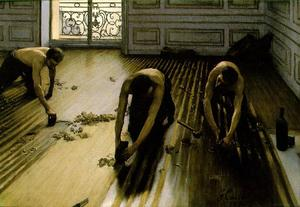 Gustave Caillebotte - Пол скребки ака стриптизерш Напольные