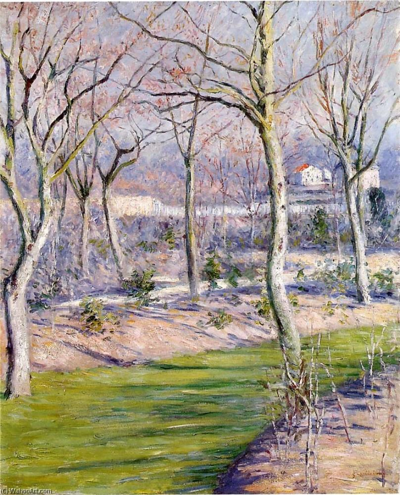 Сад в Пти Gennevilliers зимой, Масло по Gustave Caillebotte (1848-1894, France)