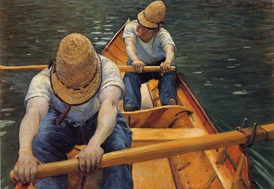 Гребцы, 1877 по Gustave Caillebotte (1848-1894, France) | WahooArt.com