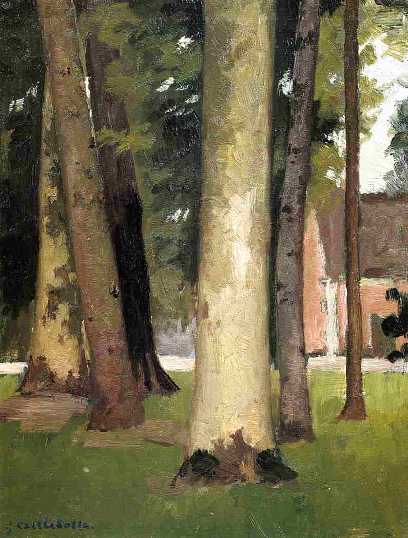 Yerres , по роще , декоративные фермы, холст, масло по Gustave Caillebotte (1848-1894, France)
