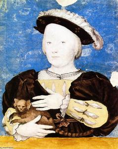 Hans Holbein The Younger - Эдвард Принц  самого  Уэльс  с  обезьяна