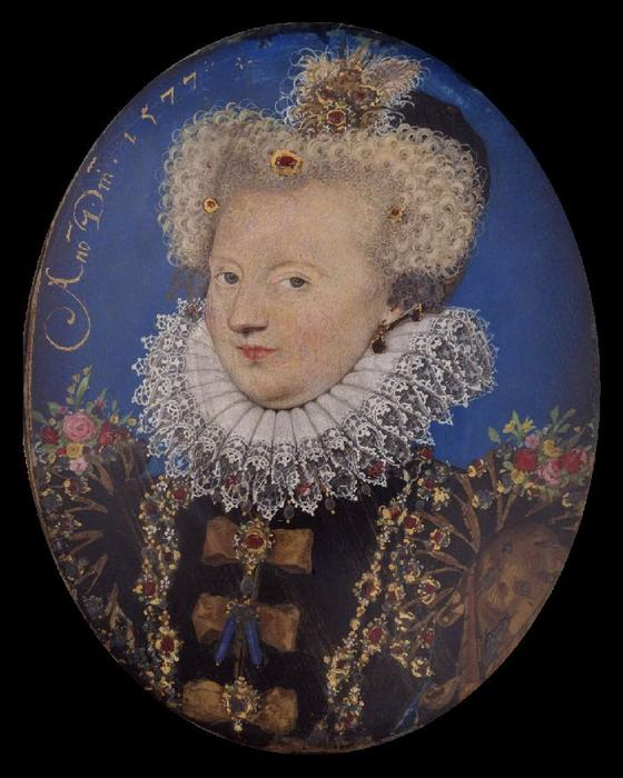 Маргарита Наварры по Nicholas Hilliard (1577-1619, United Kingdom)