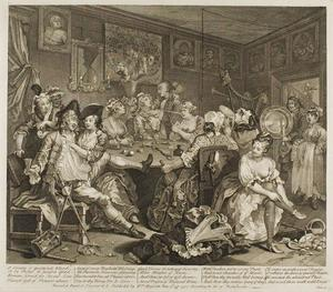 William Hogarth - Plate три , из Rake's Progress