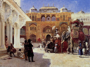 Edwin Lord Weeks - прибытие князя гумберта , раджа , во дворце янтаря