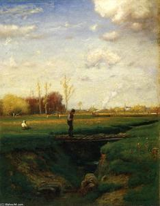 George Inness - Short Cut, Watchung станция, Нью-Джерси