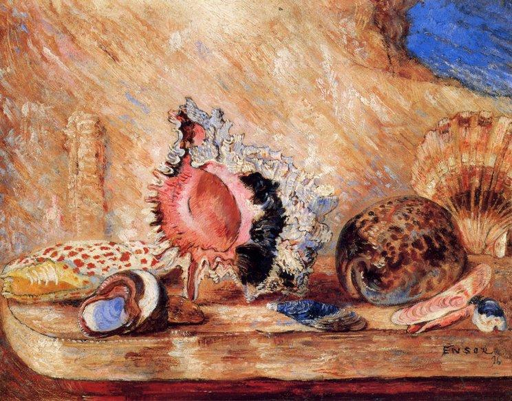 Coquillages по James Ensor (1860-1949, Belgium)