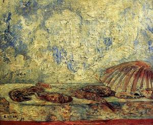 James Ensor - Crevettes др coquillages