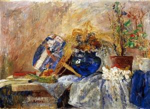 James Ensor - Мертвая природа а.е. ваза и др l' eventail блю