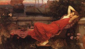 John William Waterhouse - Ариадна - (репродукция произведения)