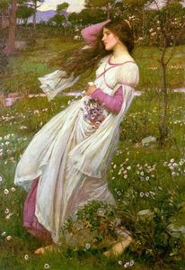 John William Waterhouse - Windflowers ( Гонимые ветром )