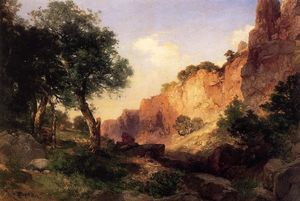 Thomas Moran - большой Canyon - Hance Trail