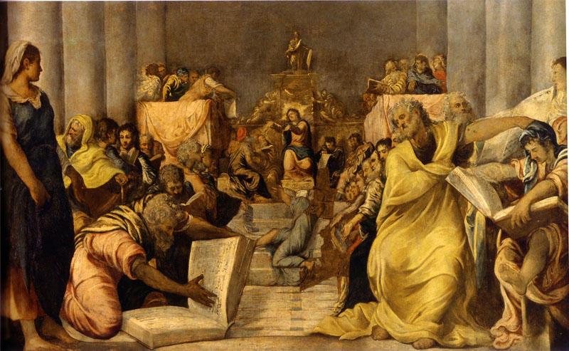 'Христос с Врачи' по Tintoretto (Jacopo Comin) (1518-1594, Italy)