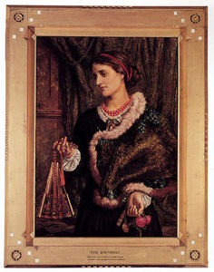 William Holman Hunt - день рождения . портрет Тем Artist's Жена , Эдит