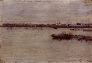 William Merritt Chase - Ремонт доки Пирс Gowanus