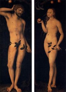 Lucas Cranach The Elder - Адам и Ева