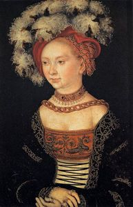 Lucas Cranach The Elder - Портрет молодой женщины