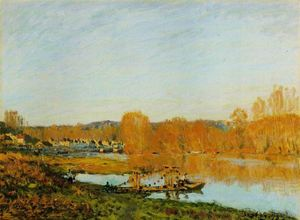 Alfred Sisley - L Automne Bords Сены прес Буживаль